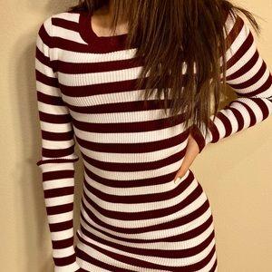 Stripes & Sass mini bodycon dress